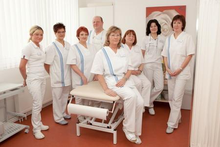 Сотрудники физиотерапевтического отделения урологической клиники Kurpark - Германия - (495)585-92-41